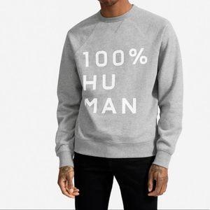 Everlane 100% Human graphic sweatshirt NWOT